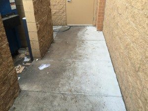 commercial pressure washing before
