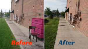 commercial pw Before after