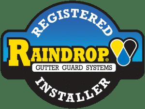 Raindrop Gutter Guard Registered Installer logo 1